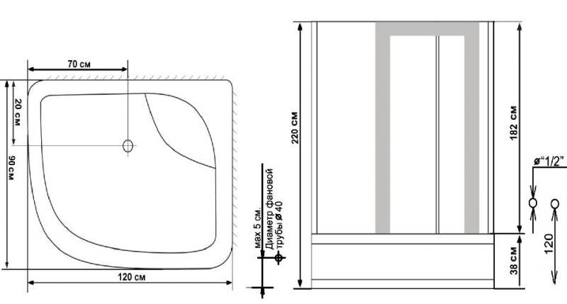 Схема ido душевая кабина